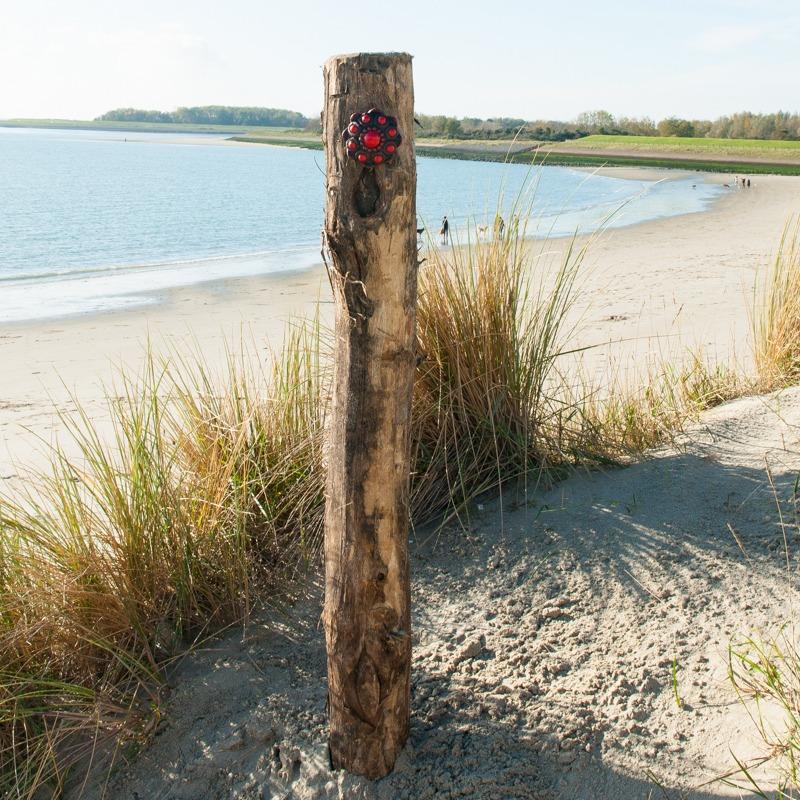Zeeuwse Knop Hang 11 cm - kleur Zwart - Rood
