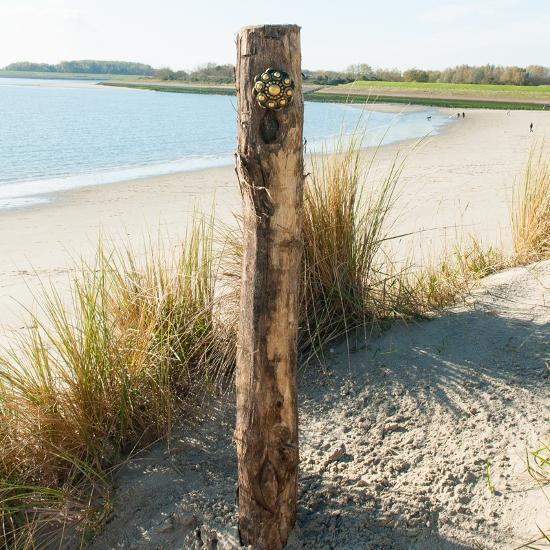 Zeeuwse Knop Hang 11 cm - kleur Zwart - Goud