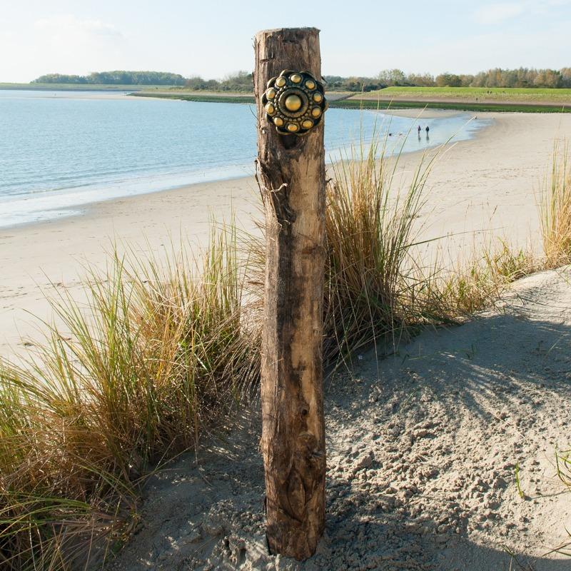 Zeeuwse Knoop Hang 16 cm - kleur Zwart - Goud
