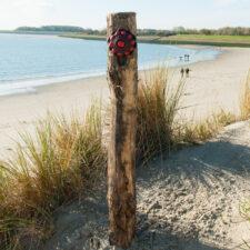 Zeeuwse Knop Hang 16 cm - kleur Zwart - Rood