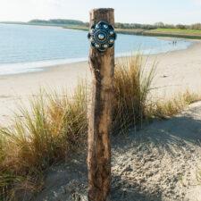 Zeeuwse Knop Hang 20 cm - kleur Zwart - Zilver