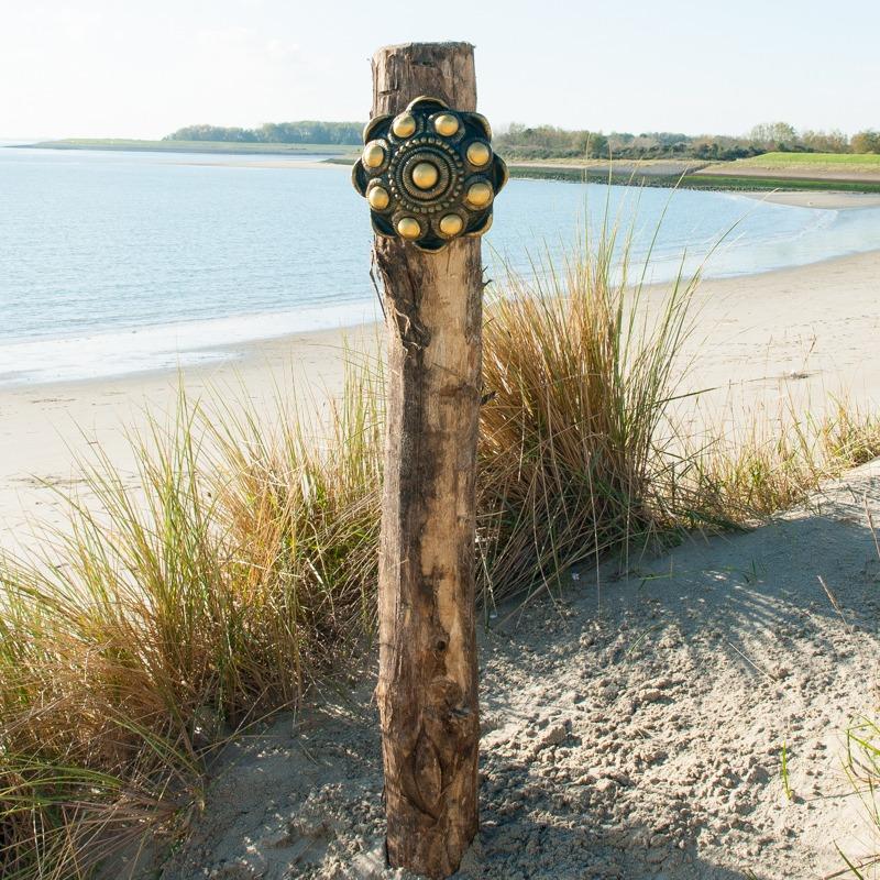 Zeeuwse Knop Beton Hang 25 cm - kleur Zwart - Goud