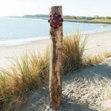 Zeeuwse Knop Hang 20 cm - kleur Zwart - Rood