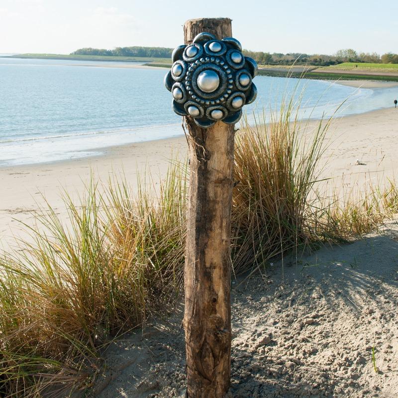 Zeeuwse Knop Hang 30 cm - kleur Zwart - Zilver
