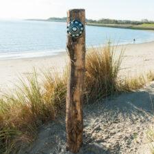 Zeeuwse Knop Hang 16 cm - kleur Zwart - Zilver