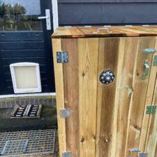 Zeeuwse Knop Containerberging 240 L geïmpregneerd hout